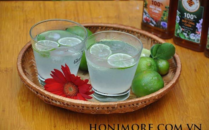 Giải khát cực đã với trà chanh mật ong chín Honimore