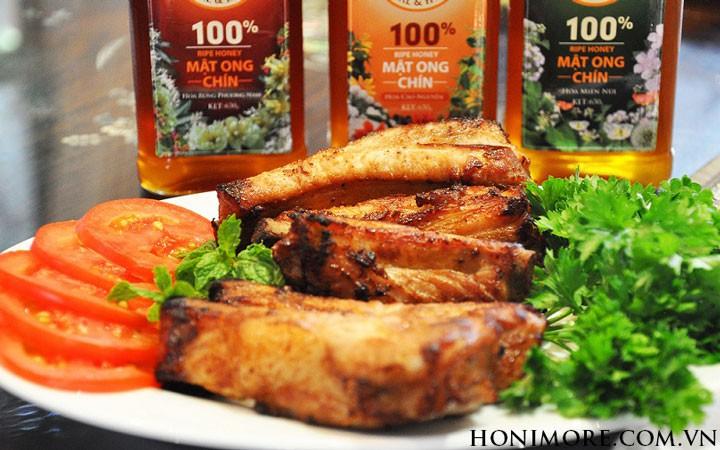 Sườn heo nướng mật ong chín Honimore ngon tuyệt