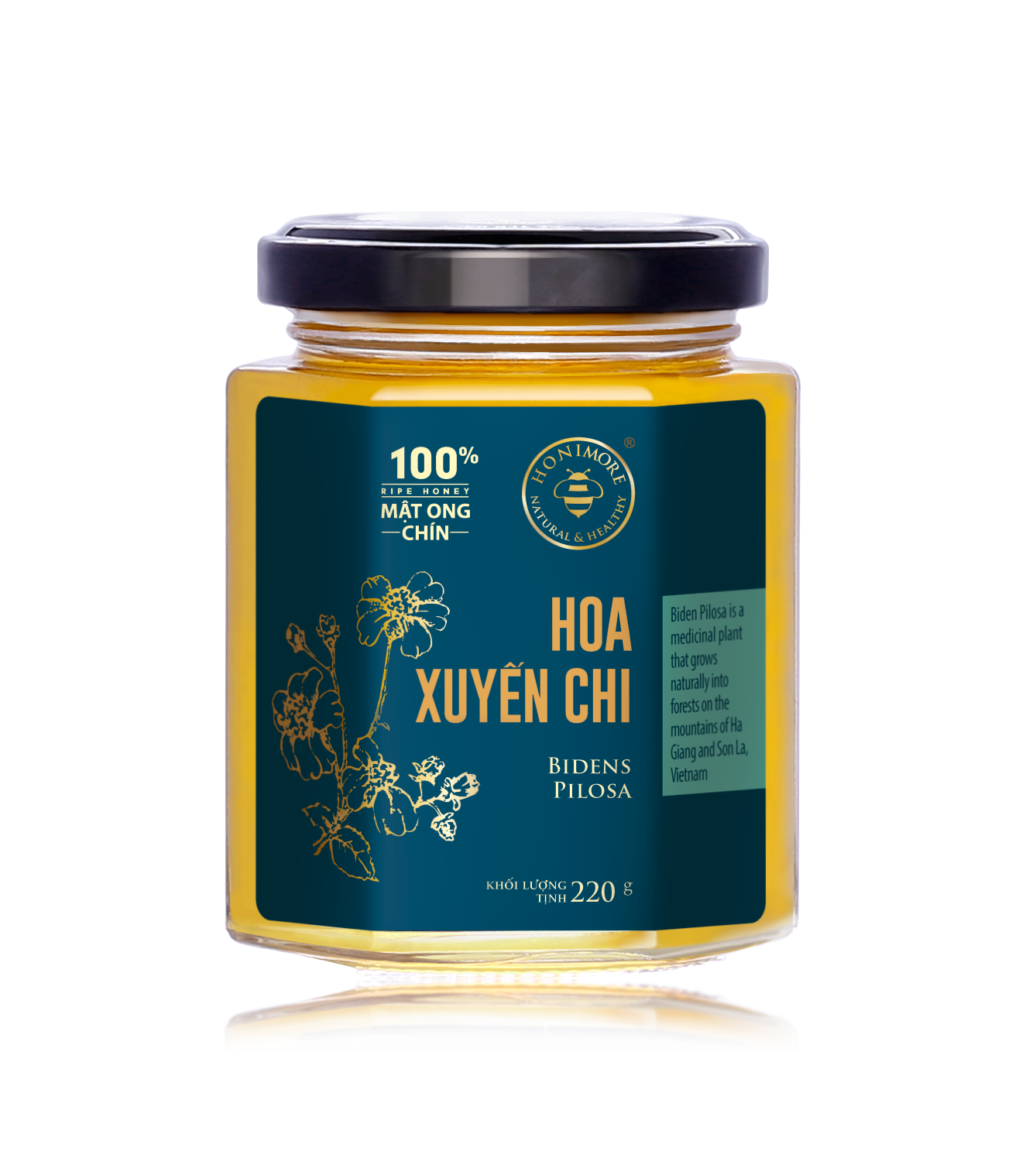 Honimore Ripe Honey - Biden Pilosa Flowers 230g